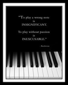 Beethoven Music Quote Black and White Music by MusicArtandMore