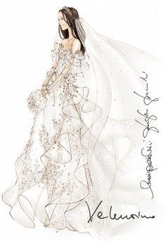 Designers Sketch Their Suggestions for Kate Middleton's Wedding Dress - Slideshow - WWD.com