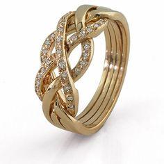 4 Band Diamond Puzzle Ring 4WGDL
