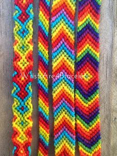 The ultimate classic friendship bracelet! Choose from the following styles: Arrowhead Chevron X Diamond Candy Stripe Also choose from bold or