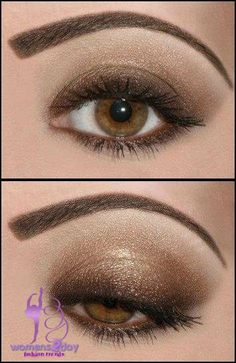 Simple steps for glistening eyes makeup