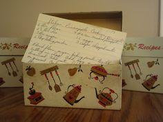 Josephine Falzone's recipe boxes