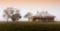 Old Cottage - Geelong' by Hans Kawitzki Abandoned Farm Houses, Old Farm Houses, Country Houses, Australia House, Australia Travel, Old Cottage, Building Art, Building Ideas, Australian Architecture