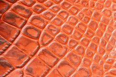 texture of genuine leather closeupembossed under the skin a orange