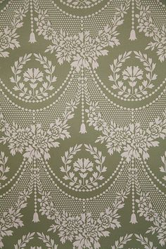 RARE Historic Handprinted Wallpaper, Quincy Lace Waterhouse 2 New Double Rolls Border Embroidery Designs, Embroidery Transfers, Embroidery Patterns, Hand Embroidery, Machine Embroidery, Textile Patterns, Textile Design, Lace Design, Pattern Design