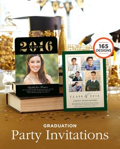 Graduation is a special occasion. Browse over 165 Graduation party invitation designs to help them celebrate their accomplishments the right way.