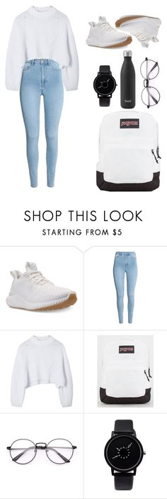 School Outfit #4 by marieboss99 on Polyvore featuring adidas, JanSport and H&M