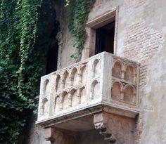 Balcon de Roméo et Juliette, Vérone, Milan, Italie.