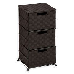 Solve your storage wars. This three-drawer double-woven storage cart has a sturdy metal frame and three drawers to stash all of your supplies. Drawer Cart, 3 Drawer Storage, 3 Drawer Chest, Storage Cart, Drawer Organisers, Chest Of Drawers, Locker Storage, Buying Your First Home, Home Buying