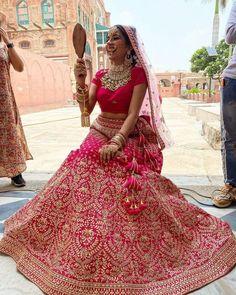 Outfits And Jewellery Inspirations From Sara Gurpal Bridal Corner, Indian Bridal Outfits, Indian Wedding Jewelry, Bridal Jewellery, Bridal Chuda, Punjabi Actress, Bridal Lehenga, Pink Lehenga, Cute Girl Wallpaper