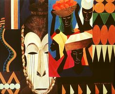 Lois Mailou Jones Damballah, 1980