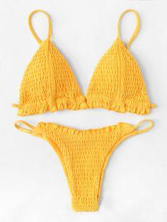 a5e0416f9e Frill Ruched Bikini Set – BORNTOWEAR