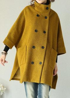 Double Breasted Side Slit Swing Coat on sale only US$41.74 now, buy cheap Double Breasted Side Slit Swing Coat at modlily.com