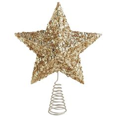 Glitter Gold Star Tree Topper | Pier 1 Imports