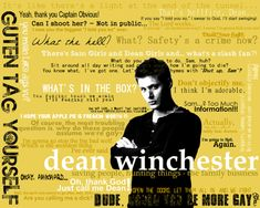 Supernatural Dean Winchester quotes (pardon the language)