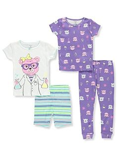 d734c40b0 Carter's Girls' 6M-12 4 Piece Multi Science Pajama Set 3T #fashion #clothing  #shoes #accessories #babytoddlerclothing #girlsclothingnewborn5t (ebay link)