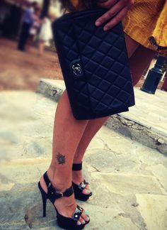 more @http://www.myflashbackfashion.com/2012/09/girly-chic.html Dress L.A.K | Heels YSL | Bag Chanel