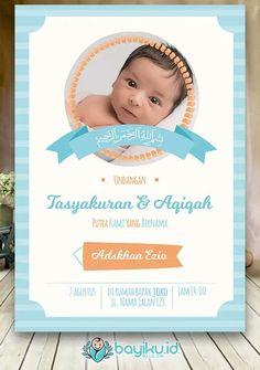 Desain kartu ucapan aqiqah-akekah-akikah | dek Pin2 ...