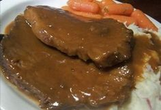 Traditional German Sauerbraten. Takes 3 days to make, but SO worth it and a nice change from conventional pot roast!