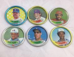 6 Baseball Coins 1989 Topps Metal Caps Gibson Palmeiro Fernandez Guerrero Raines | eBay