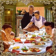 Thanksgiving with Norman Rockwell kind of / Joyful226