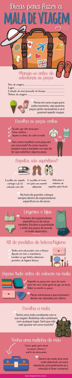 Dicas para fazer a mala de viagem - Blog da Mimis #viagem #mala #blogdamimis #organização #férias #bagagem