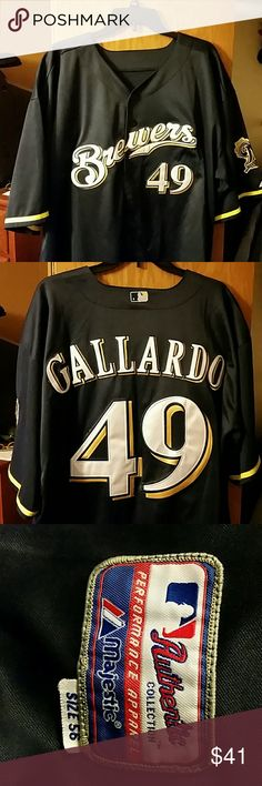 Yovani Gallardo Milwaukee Brewers Jersey Never worn Majestic Other