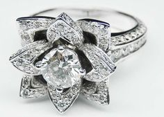 """beautyblingjewelry: """"Lotus Diamond Engage beauty bling jewelry fashion """" Pretty!"""