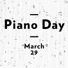 Piano Day 2015 Playlist by Nils Frahm on SoundCloud Piano, March, Math Equations, Day, Flow, Desktop, Pianos, Mac