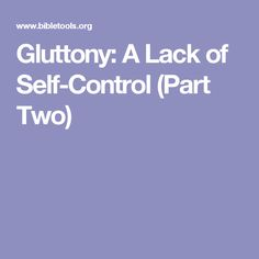 lack of self control essay Procrastination is the breakdown of self-control a lack of self-control causes procrastinators to have problems when it comes to finishing tasks -- even some of the most simple and basic ones.