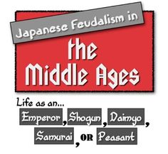 **Save NOW -- -- Code: CYBER ** Japanese Feudalism in the Middle Ages: Students explore first-person accounts to learn about Japan's Feudal System! Teaching Social Studies, Teaching History, History Classroom, Learn To Write Japanese, Japan For Kids, World History Lessons, Teaching Activities, Teaching Resources, Sixth Grade