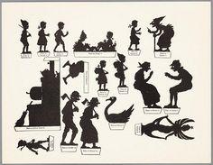 Hansel et Gretel en ombres chinoises avec texte