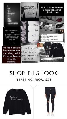 """""""Untitled #367"""" by emohipster ❤ liked on Polyvore featuring Frame Denim"""