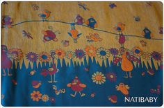 Natibaby Singing Birds size 5 woven wrap, Linen Blend Manufacturer site: http://www.natibaby.eu/category/woven-wraps