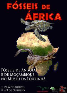 Cartaz da Exposição Temporária de Fósseis de África