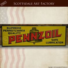 Pennzoil Liberty Bell 1920s Vintage Tin Signs Collectable