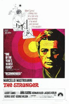 The Stranger (1967) Stars: Marcello Mastroianni, Anna Karina, Bernard Blier ~  Director: Luchino Visconti (Nominated for a Golden Globe for Best Foreign-Language Foreign Film ~ France)