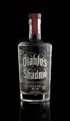 Diablo's Shado - Silver Rum | Bottle Design
