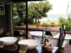 Chiawa Camp was the first camp to open inside the Lower Zambezi National Park (back in 1989), and is arguably still the best. Nine timber-and-reed tents with claw-foot tubs face a broad, glittering stretch of the Zambezi River—yes, that is a lioness sunning herself 20 feet in front of your deck—and Zimbabwe beyond the far bank. Don't miss a canoe trip upriver with head guide Paul Grobler, who's something of a legend here.