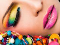 neon makeup   Peacock Inspired Eyes- Neon Makeup Look via