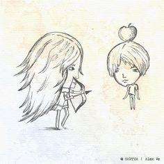 """ilustratie capitol """"Cum m-a cunoscut"""" - Cartea, de Alex Ve"""
