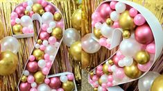 Balloon Backdrop, Balloon Centerpieces, Balloon Decorations Party, Surprise Party Decorations, Birthday Party Tables, Birthday Balloons, 2nd Birthday, Toddler Birthday Themes, 2nd Anniversary Gifts