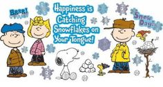 Eureka Peanuts Happiness is a Snowflake Bulletin Board Set, 39 Reusable Punch Out Pieces