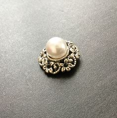 Pearl Charms | Antique Silver Brass Charms | Jewelry Making Supplies | Pendant Bracelet | Earrings Keychain (20mm) 1pc CHB08 by EverythingHandCraft on Etsy