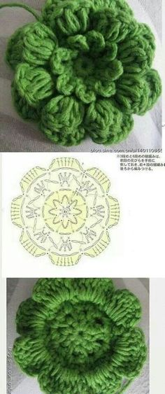 . Crochet Flower Tutorial, Crochet Flower Patterns, Crochet Patterns Amigurumi, Crochet Designs, Crochet Flowers, Crochet Diagram, Crochet Chart, Crochet Motif, Irish Crochet