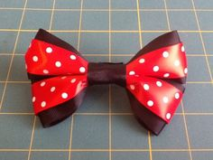 Minnie Mouse Bow Barrette by MeridaMerchandise on Etsy, $5.00
