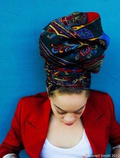 Head wrap styles are awesome for bad hair days, protective styles or just regular glam - check out our gallery of 36 gorgeous head wrap styles Bad Hair Day, My Hair, American Women, Natural Hair Care, Natural Hair Styles, Natural Beauty, Natural Curls, African Head Wraps, Head Wrap Scarf