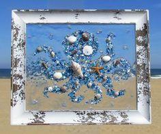 Best 10 Unique beach window art by Luminosities! Sea Glass Mosaic, Sea Glass Art, Mosaic Art, Mosaics, Stained Glass, Glass Vase, Sea Glass Crafts, Sea Crafts, Resin Crafts