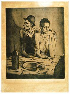Picasso La tirada, 1904 aguafuerte y marcador sobre zinc 61,4 x44,3