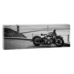 Bild Kunstdruck auf Leinwand Keilrahmenbild Wandbild Leinwandbild Harley San Francisco-Blick über die Bucht | Panoramabild im XXL Format | Trendiger Kunstdruck auf Leinwand | Verschiedene Größen (150 cm x 50 cm) Querfarben http://www.amazon.de/dp/B00P951QTU/ref=cm_sw_r_pi_dp_Cw4bwb0Y05S7X